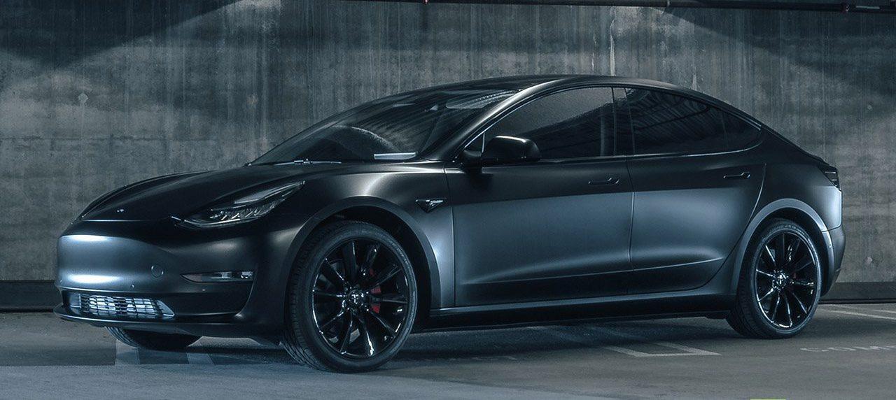 Tesla Model 3 in 'matte black' makes a comeback with aftermarket