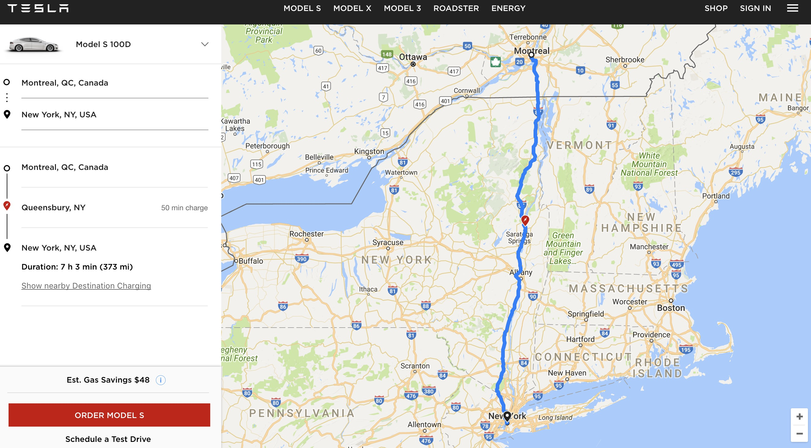Ev Trip Planner >> Tesla Launches A New Web Based Trip Planning Tool Using The