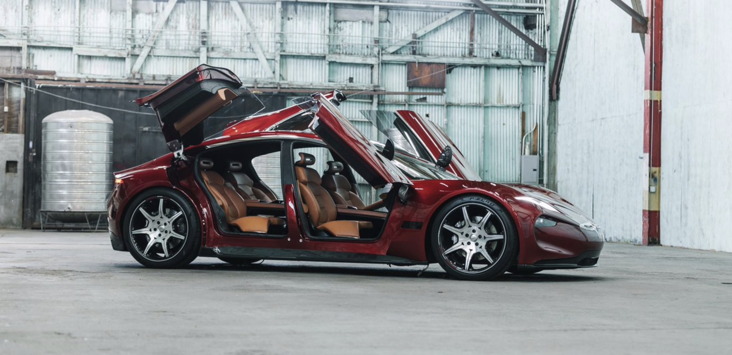 Henrik Fisker unveils new images of his electric car ahead of next week's unveiling