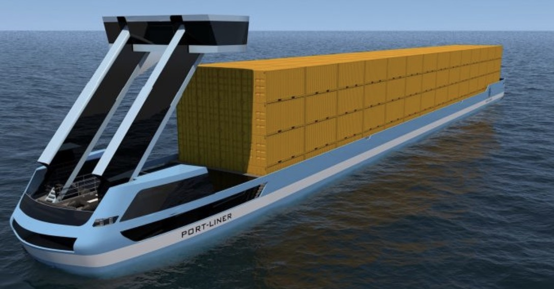 Large Tesla Ships All Electric Container Barges Are