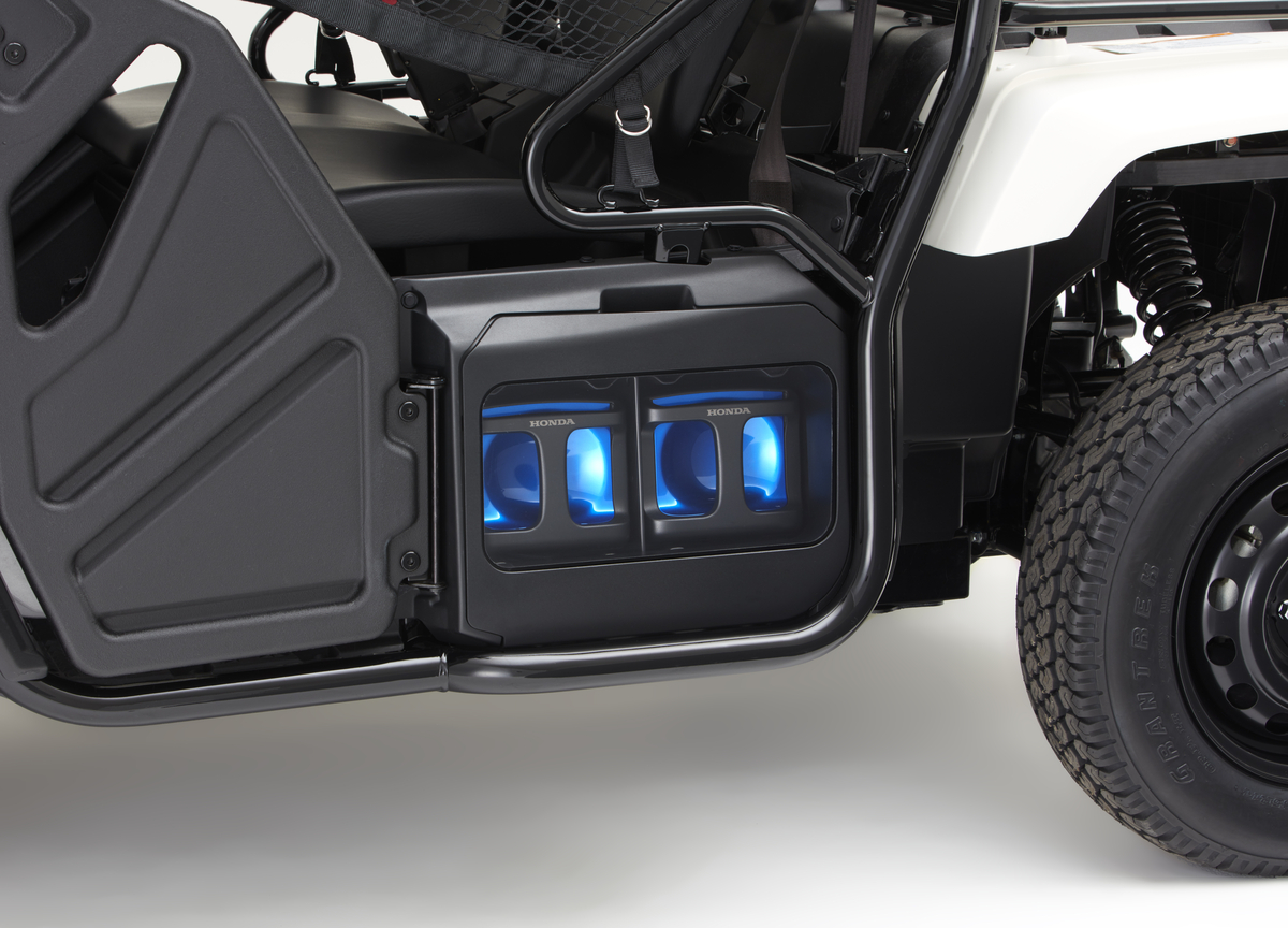 Honda Atv Side By Side >> Honda Unveils A New Swappable Battery Pack Ecosystem Powering An Atv
