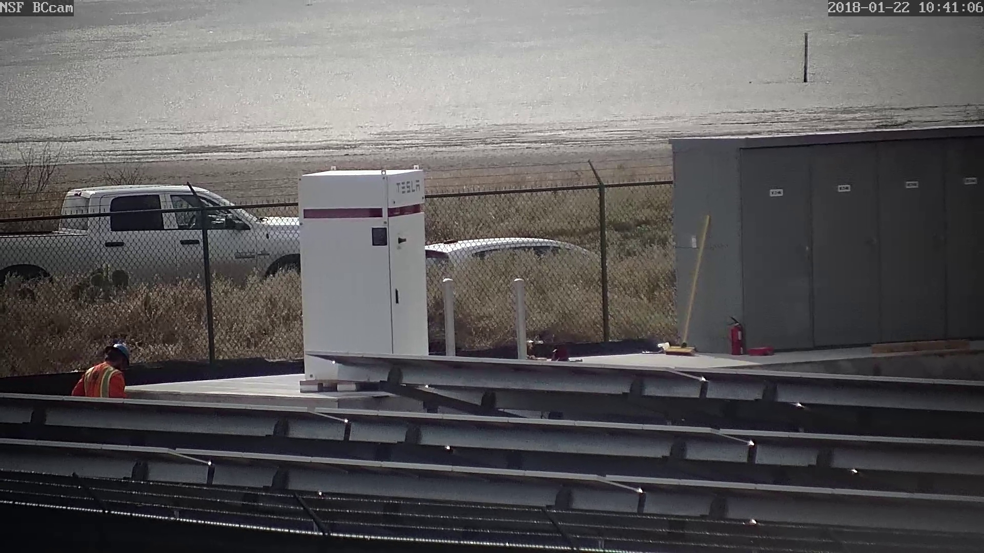 Tesla delivers a Powerpack system to SpaceX's new spaceport