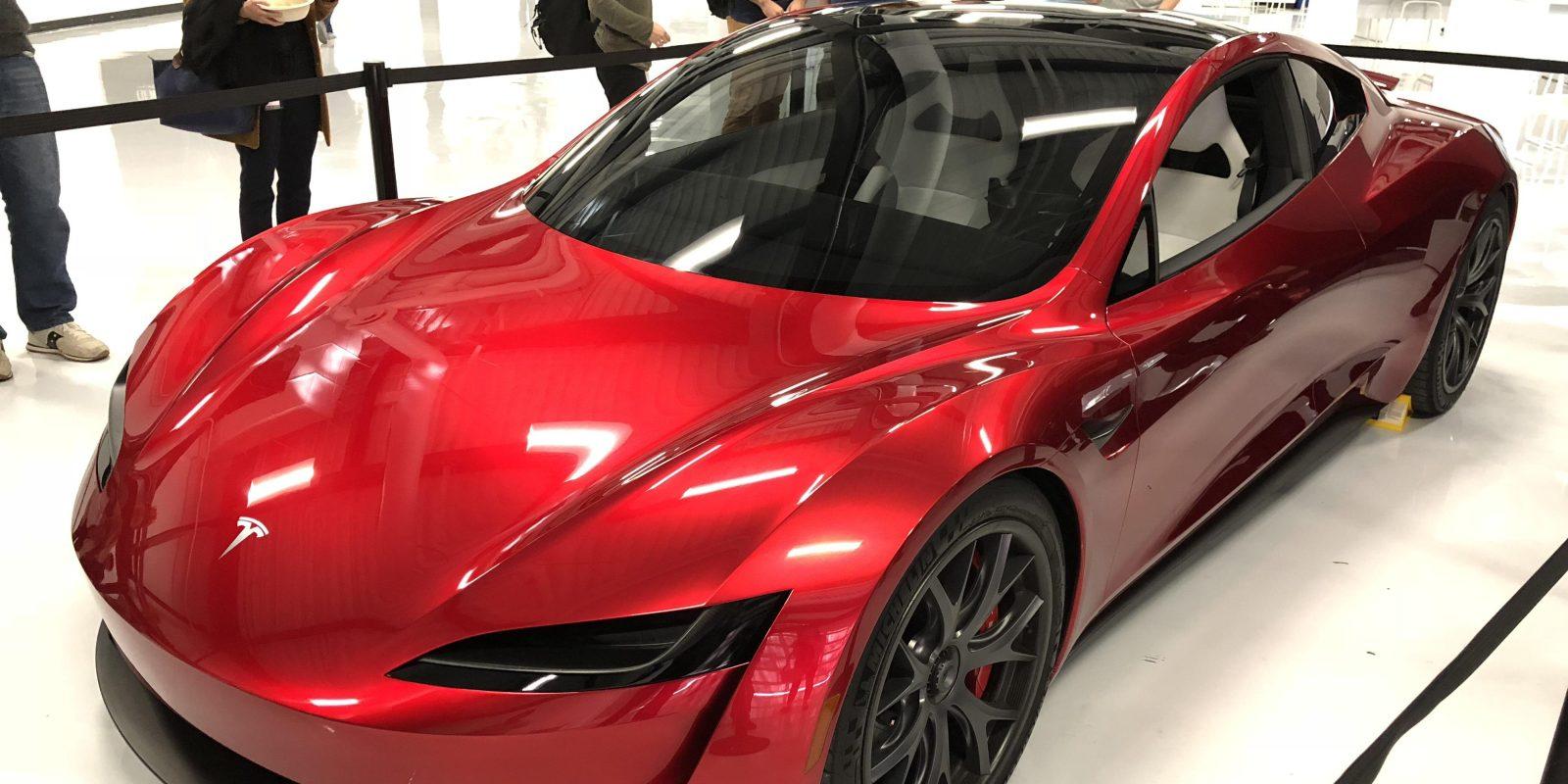 tesla brings new roadster prototype to the bay area electrek