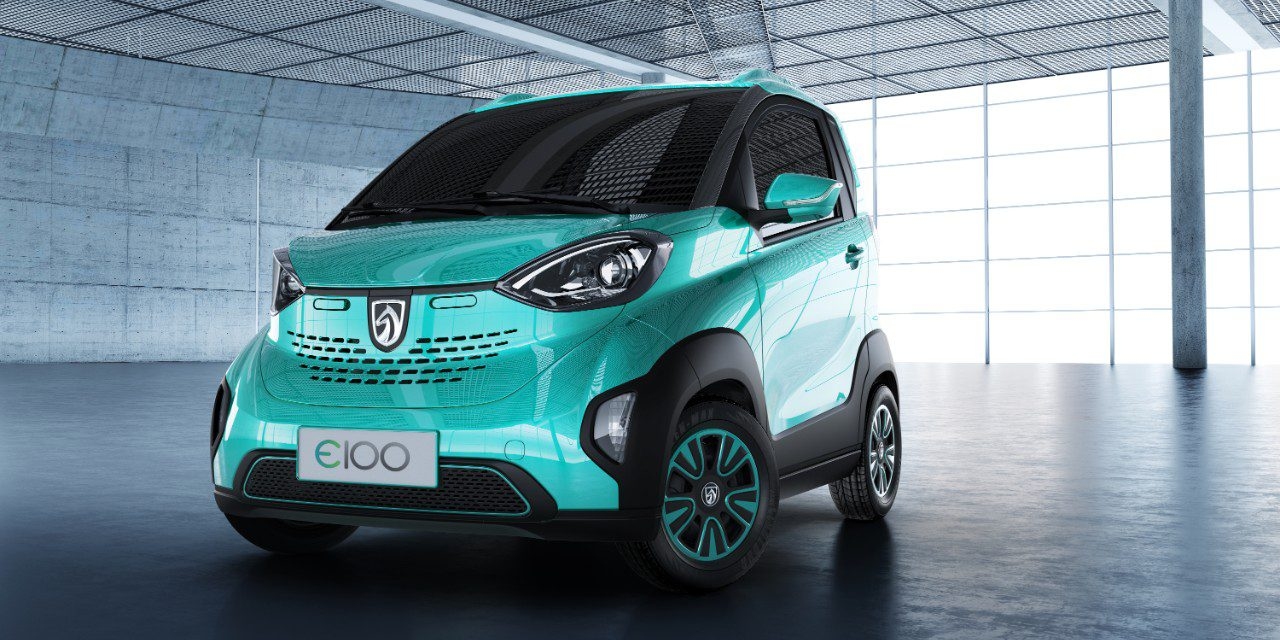 This small electric car made by gms chinese joint venture