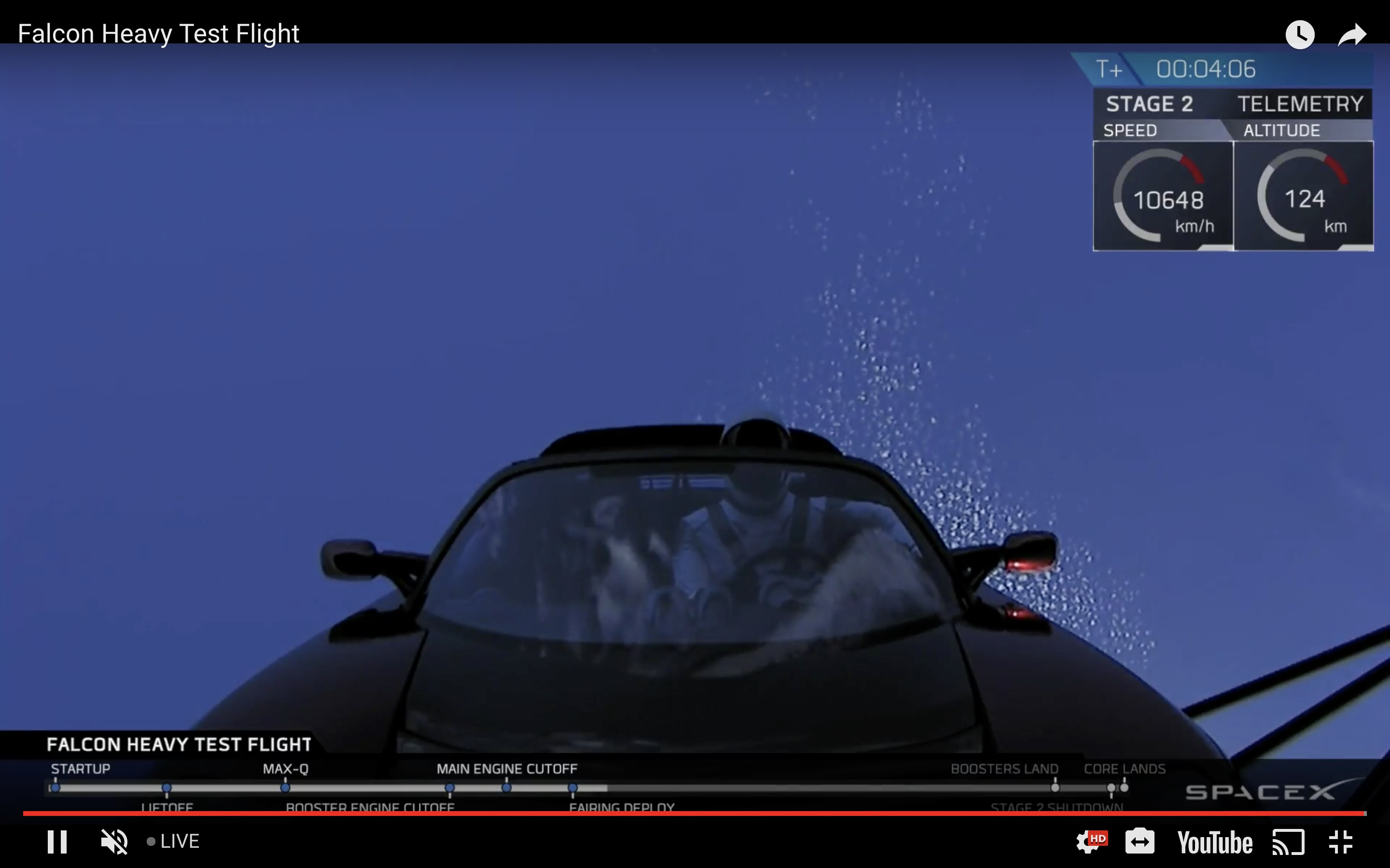Tesla Roadster successfully launched into space on SpaceX's