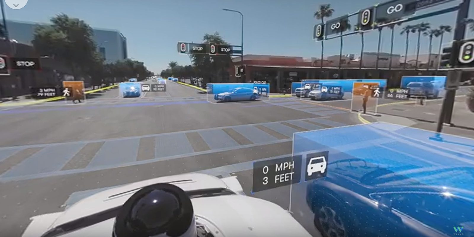 Waymo releases great comprehensive video showing what their self-driving van sees in real-time