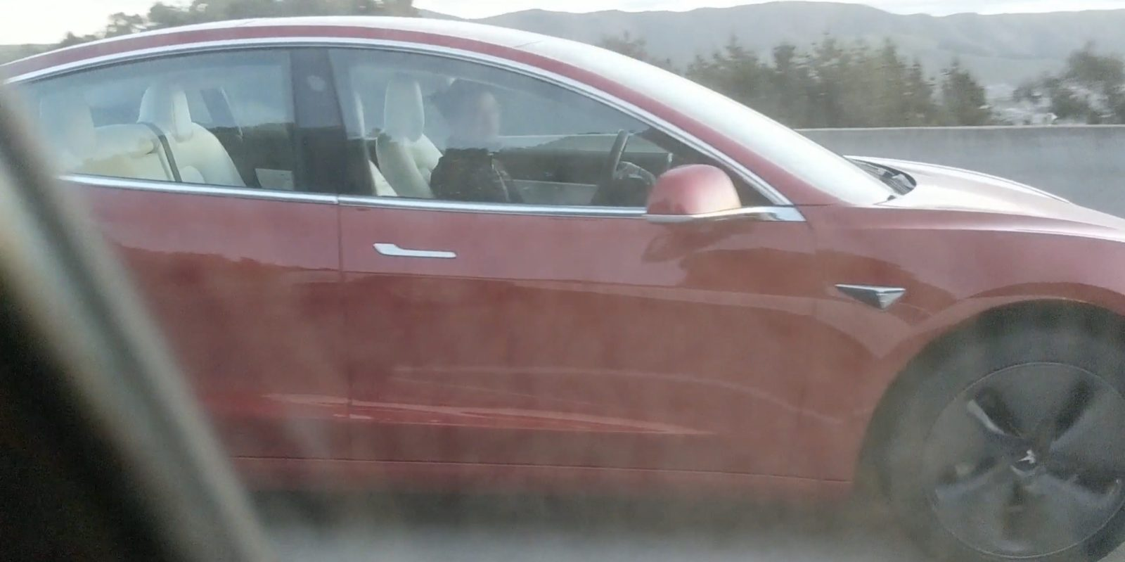 Tesla Model 3 With New White Interior