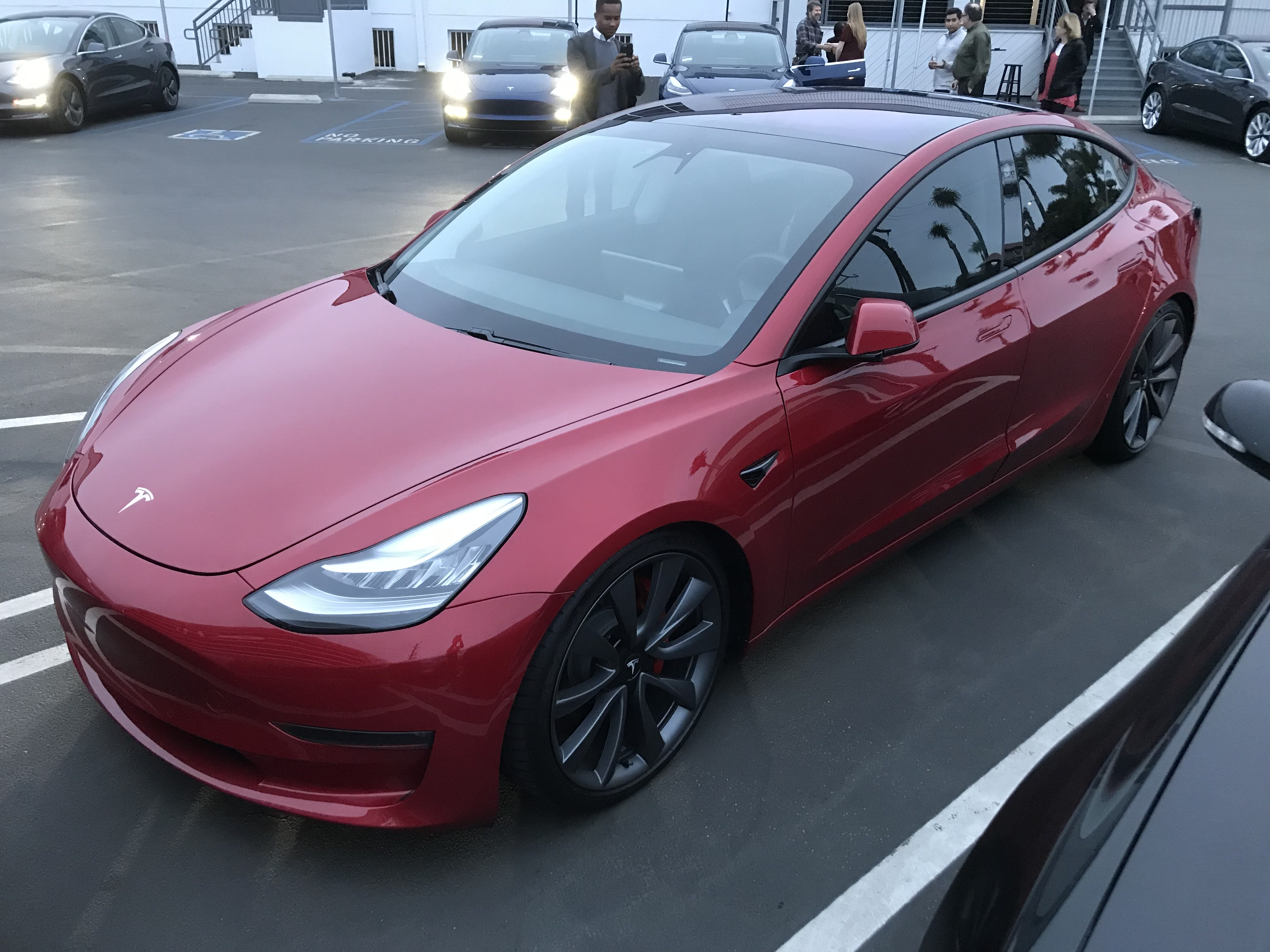 Even Tesla S Chief Designer Made A Few Modifications To His Car Which Was Spotted At Los Angeles Delivery Center Yesterday Via