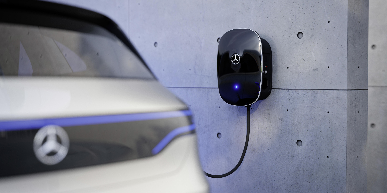 Neue Mercedes Benz Wallbox Laden Mit Bis Zu 22 Kw The New Allows Charging With Up To