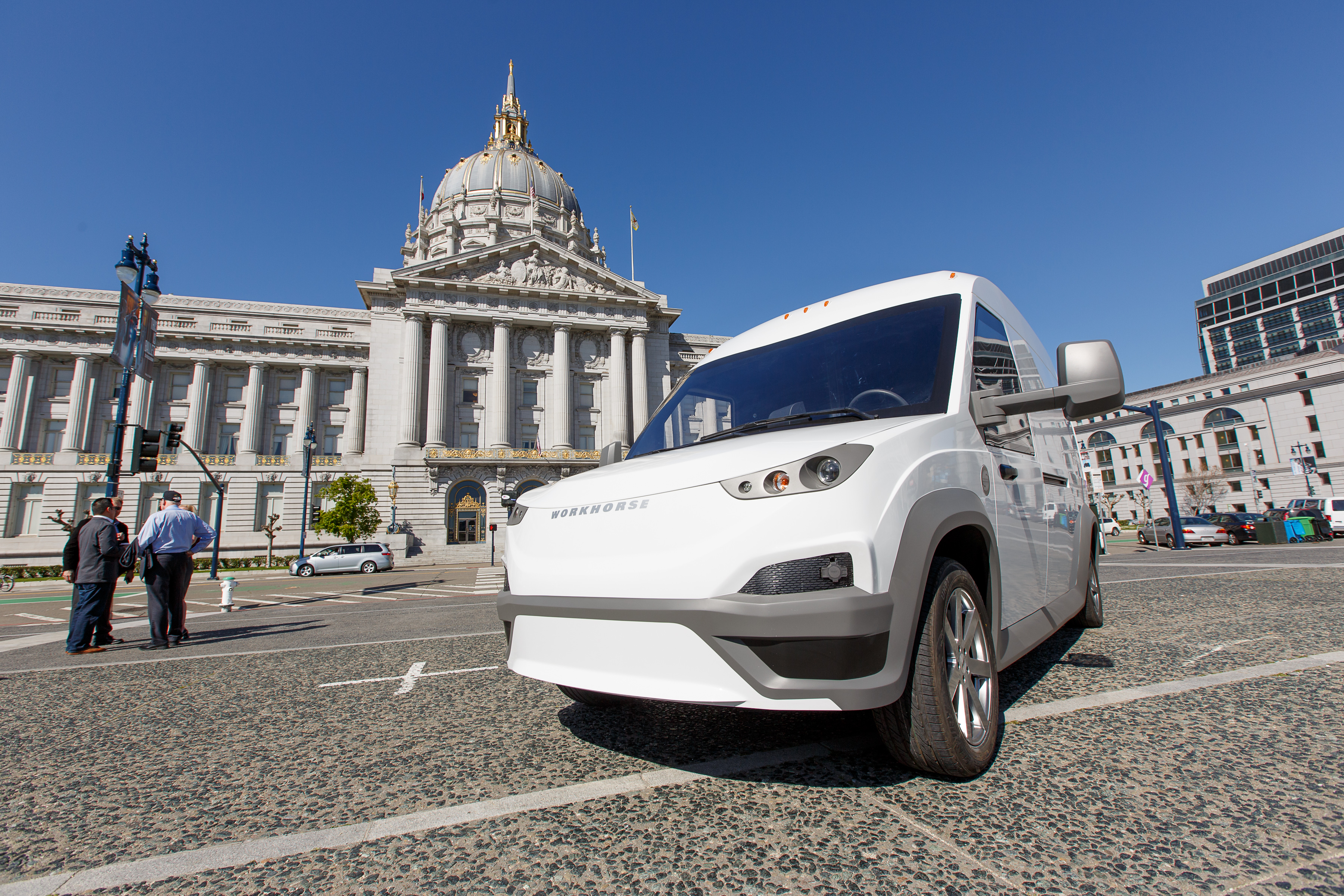 Workhorse puts its first all-electric van on the road, aims for