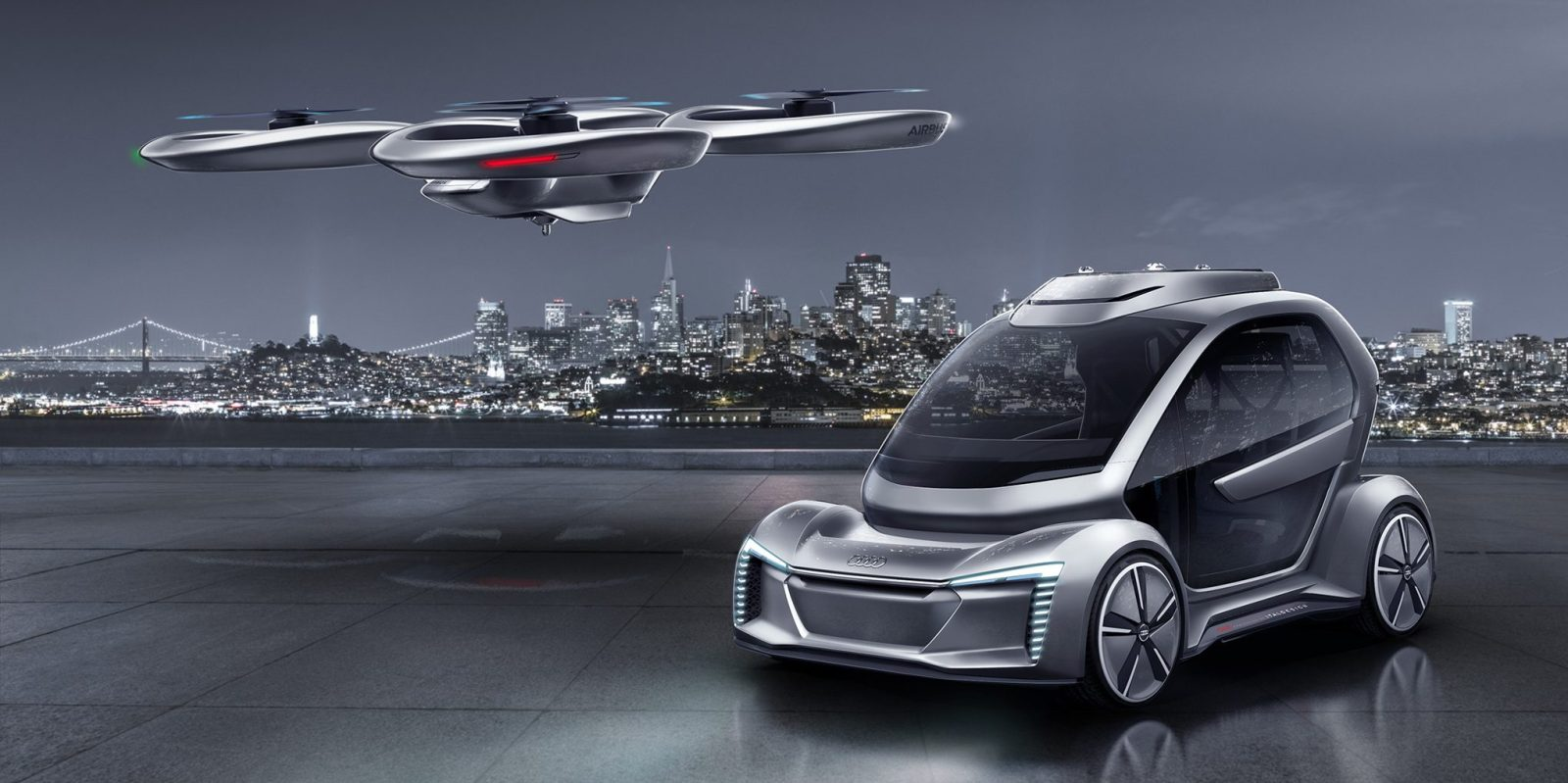 Best Car For Uber >> Audi and Airbus work together on a passenger drone ...