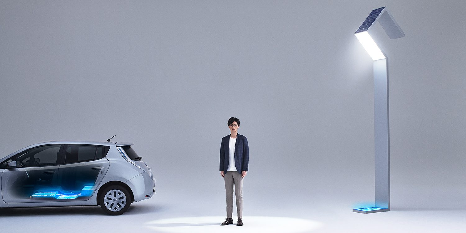 Nissan unveils stunning new streetlights powered by used Leaf battery packs and solar