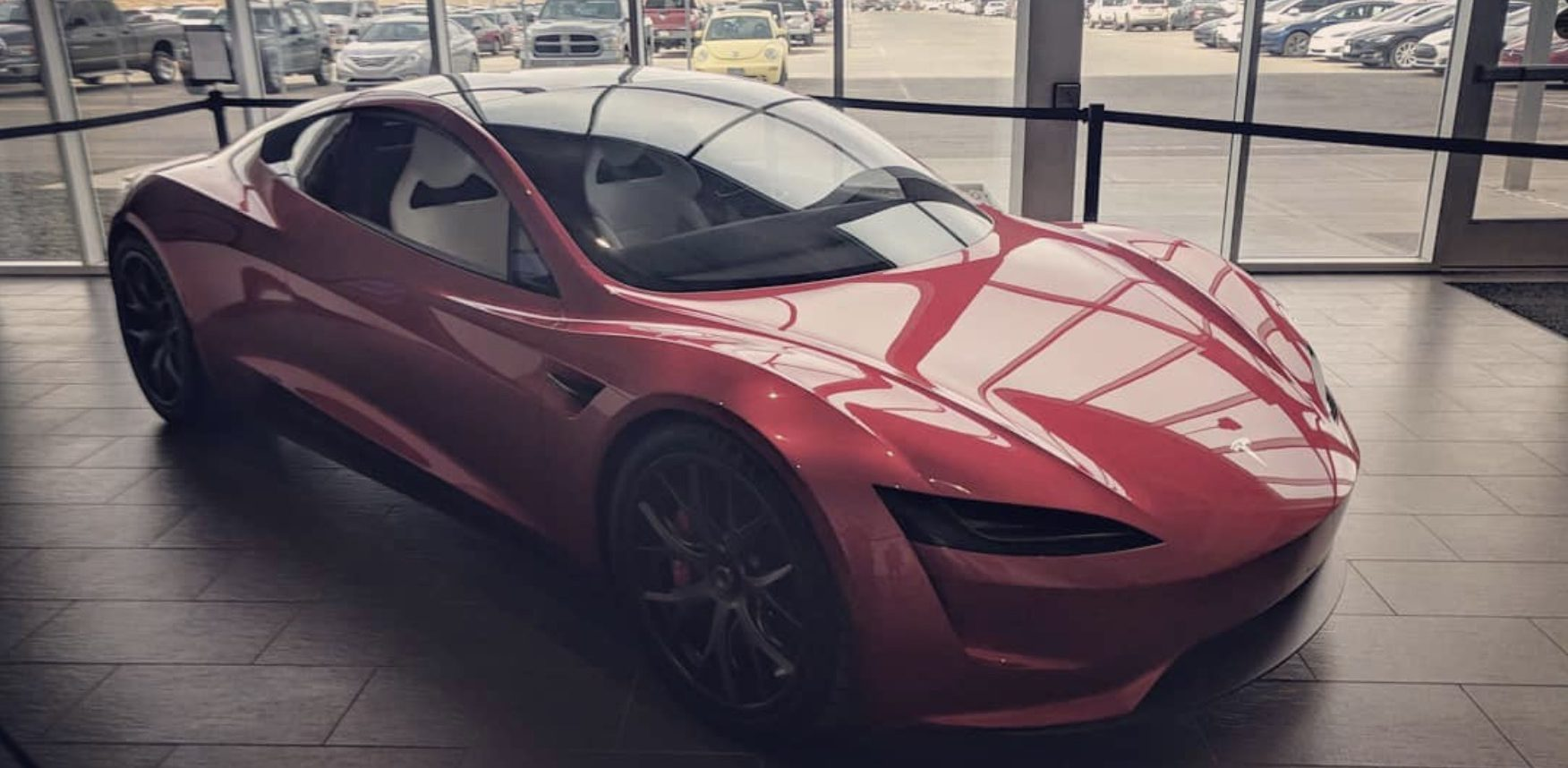 Tesla Next Generation Roadster Prototype Shows Up At