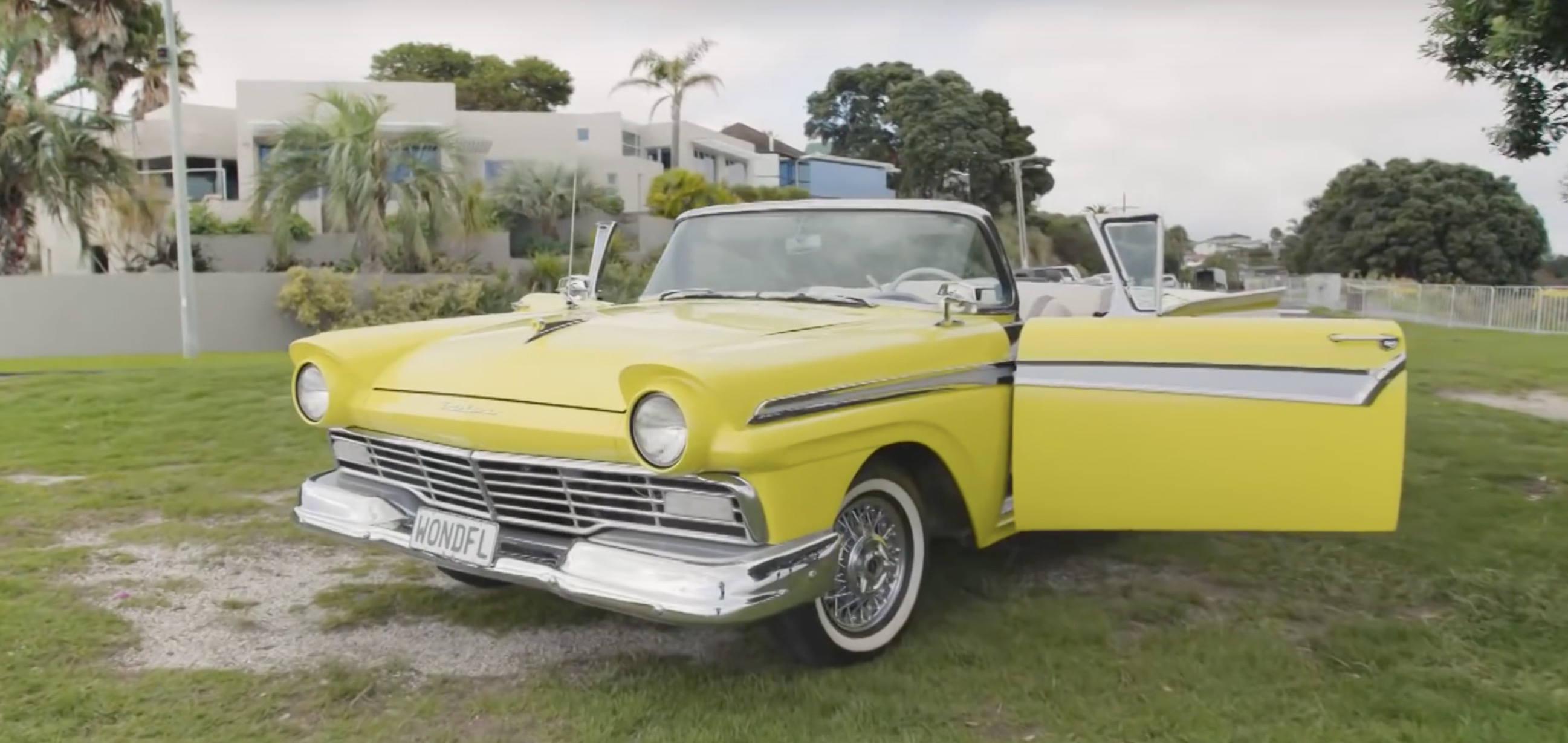A classic 1957 Ford Fairlane goes all-electric with a 50 kWh battery pack