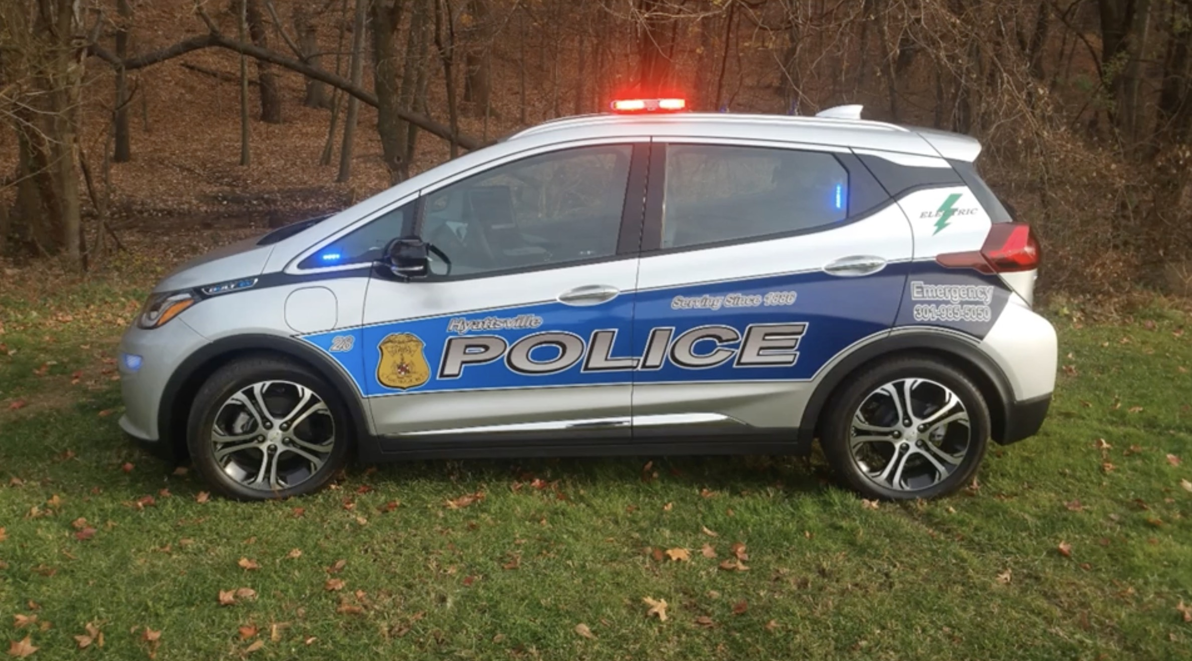 Here S A Few Images And Video About Turning The Bolt Ev Into Police Patrol Car