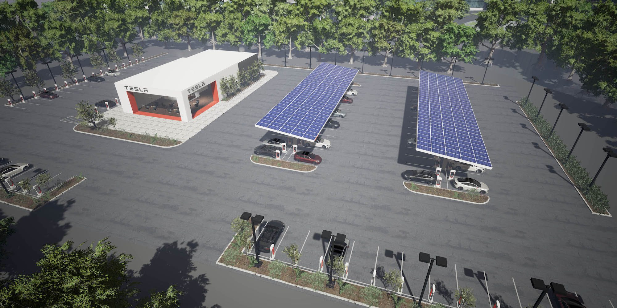 Tesla Supercharger Expansion >> Tesla's new drive-in restaurant with Supercharger station gets a possible location as company ...