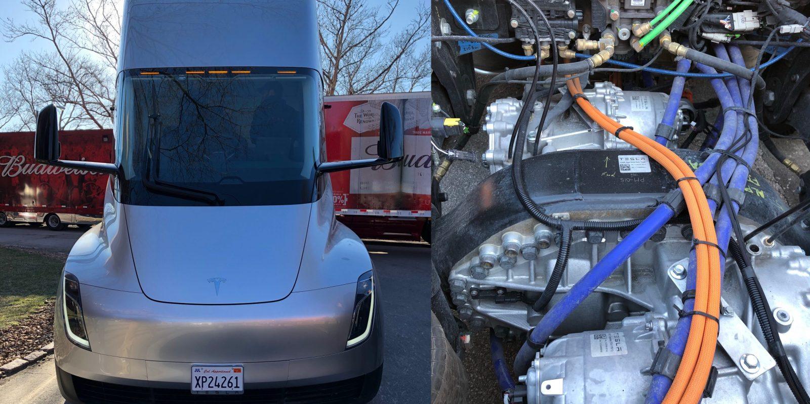 Mercedes Benz Fremont >> A closer look at a Tesla Semi electric truck prototype and its electric motors - Electrek