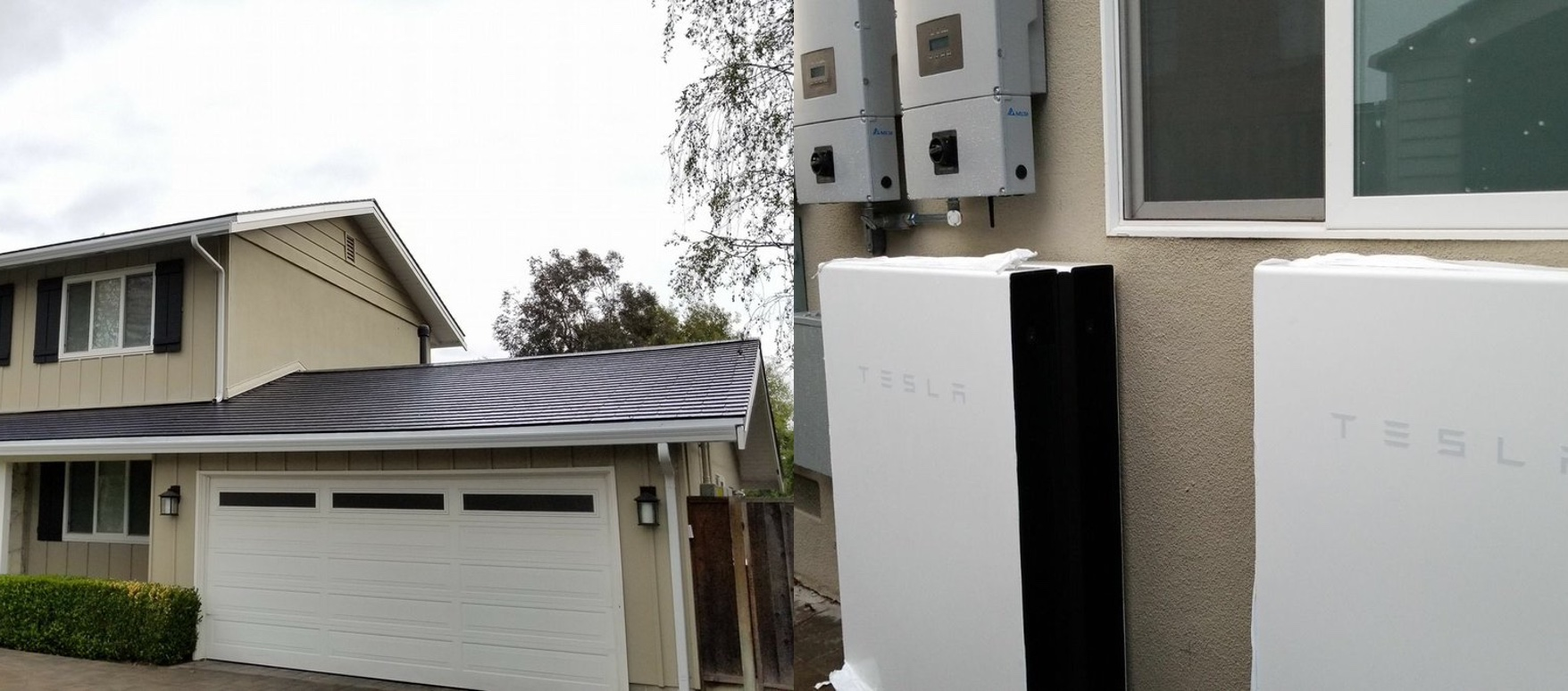 A first look at the 'Tesla house of the future' with solar roof and Powerwall batteries