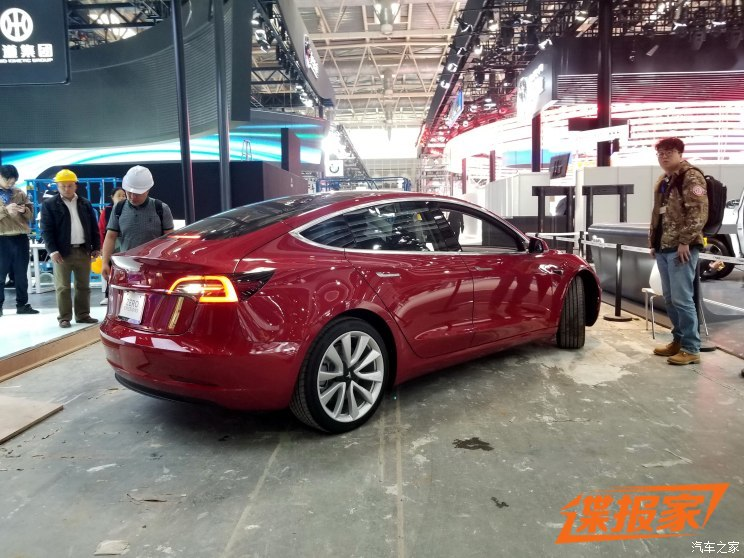 Tesla Debuts The Model In China At The Beijing Auto Show Electrek - Next car show