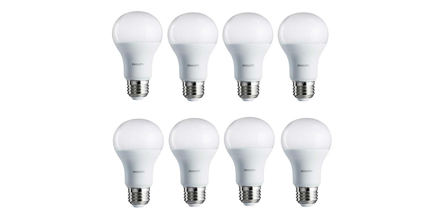 Green Deals 8 Pack Philips A19 100w Daylight Led Light Bulbs 29 More Electrek