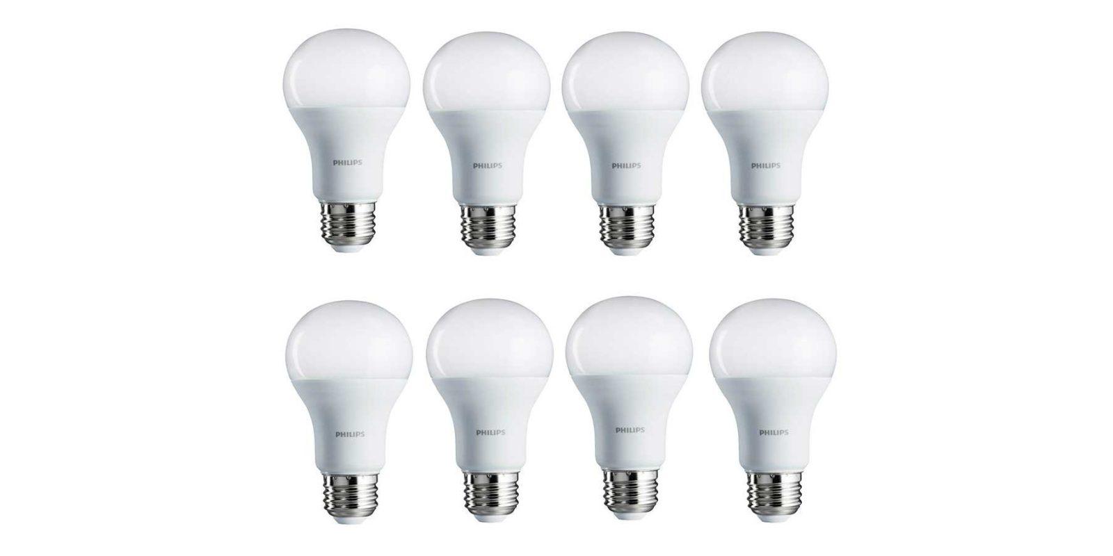 Green Deals: 8-pack Philips A19 100W Daylight LED Light Bulbs $29 ...