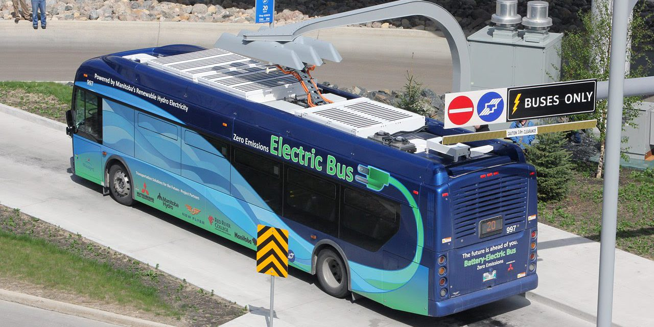 Electric Bus Rolls Over And Crashes Rooftop Battery Pack