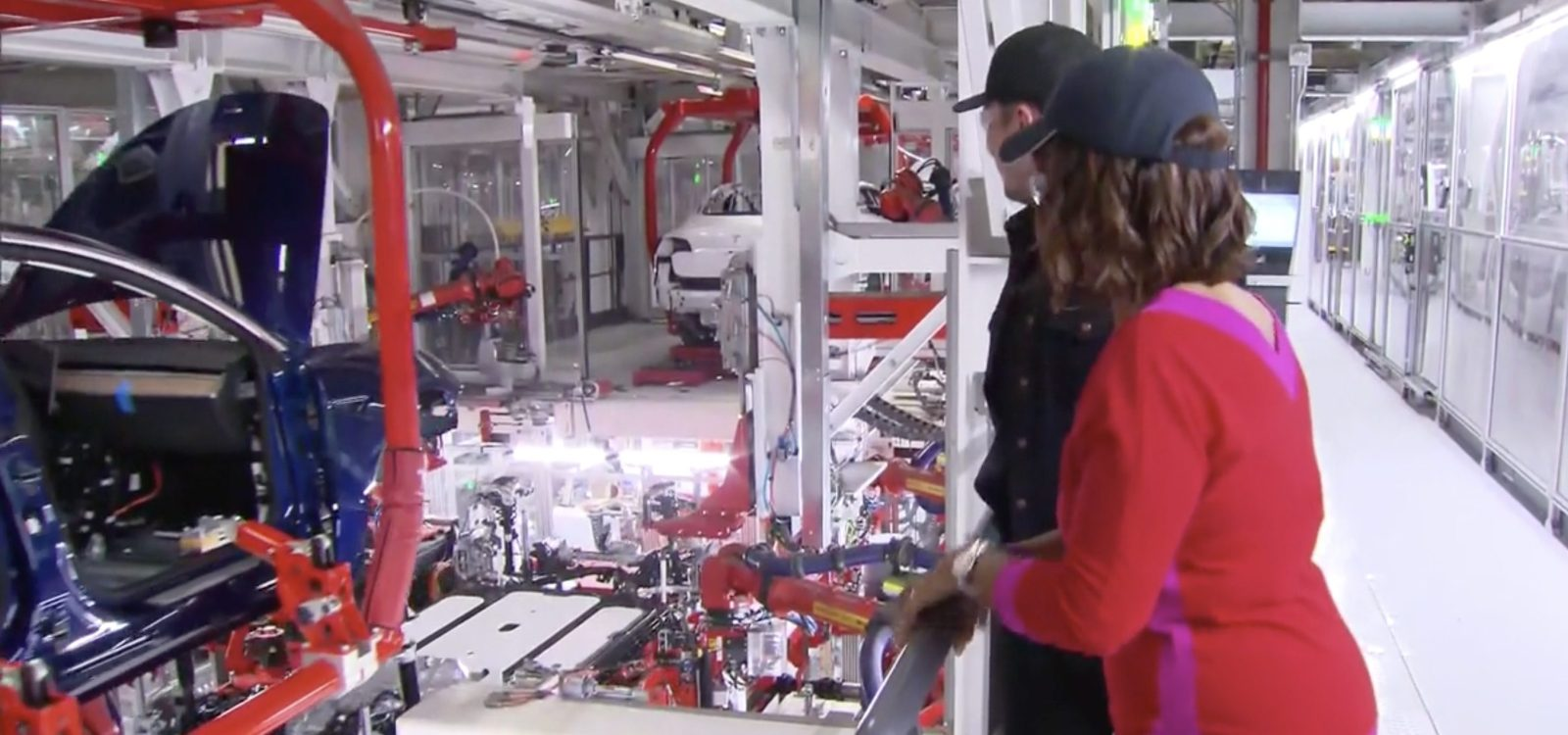 2a8c0f6c0f85b Elon Musk gives first glimpse inside Tesla Model 3 production line ...