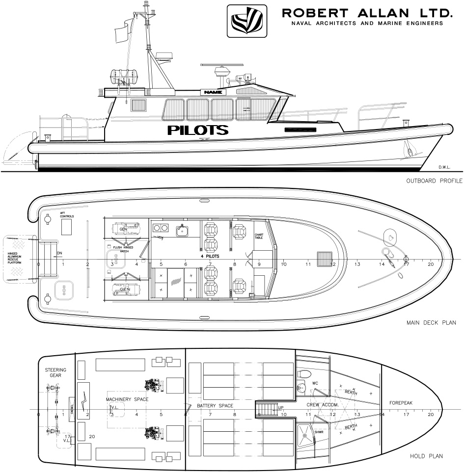 A new all-electric pilot boat unveiled by Robert Allan to