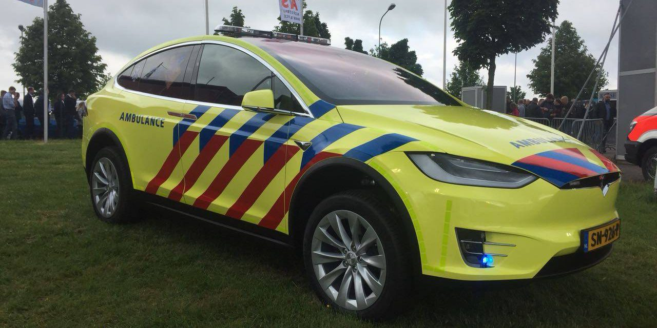 Tesla Model X Used As An All Electric Rapid Responder Vehicle For Ambulance Service