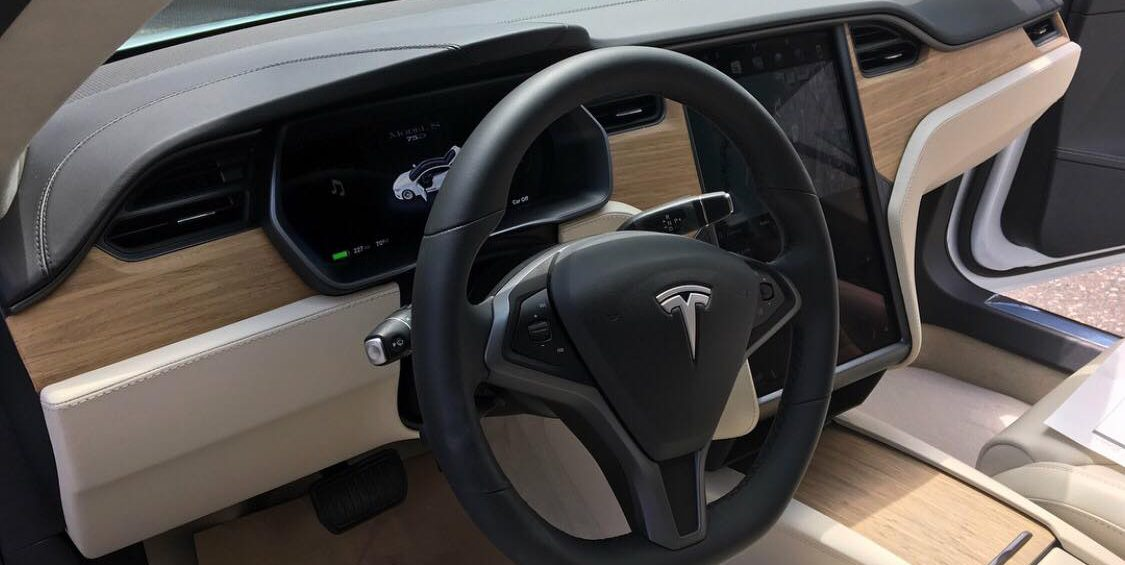 Tesla Model S Interior >> First Look At The New Tesla Model S X Interior Finish Electrek