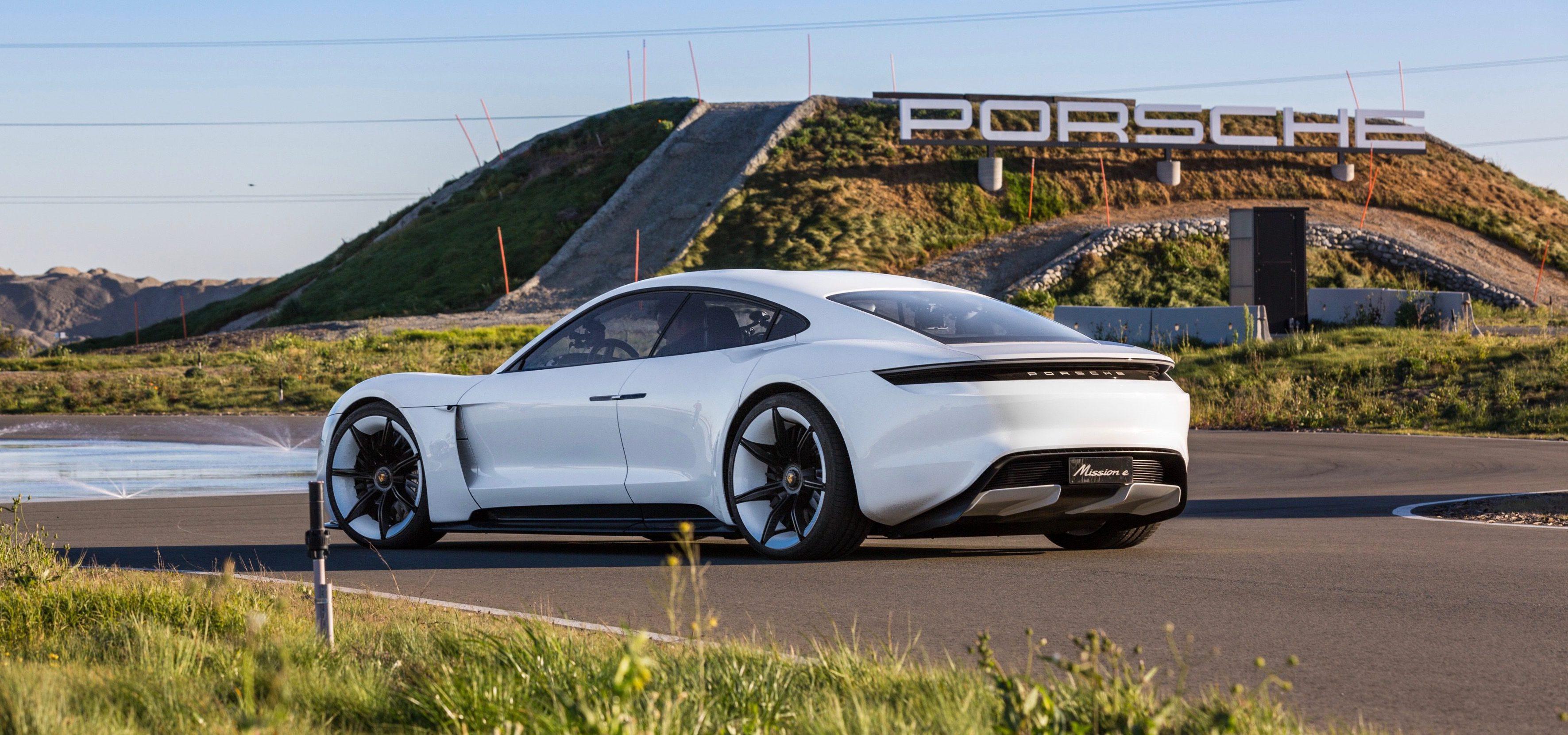 Porsche s Mission E all electric vehicle be es the Taycan Electrek