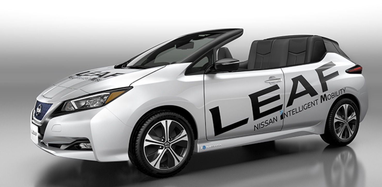 nissan unveil open air version of the new all electric leaf electrek. Black Bedroom Furniture Sets. Home Design Ideas
