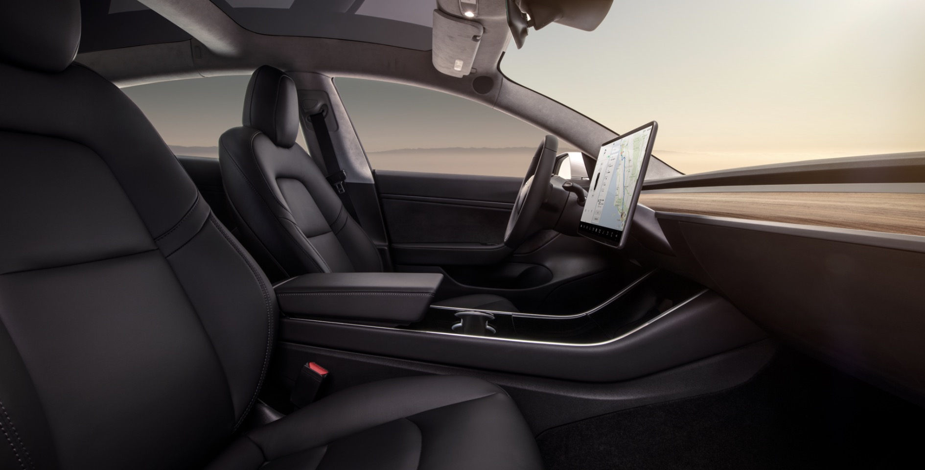 First Look At Tesla Model 3 With New White Interior For Performance Version Electrek