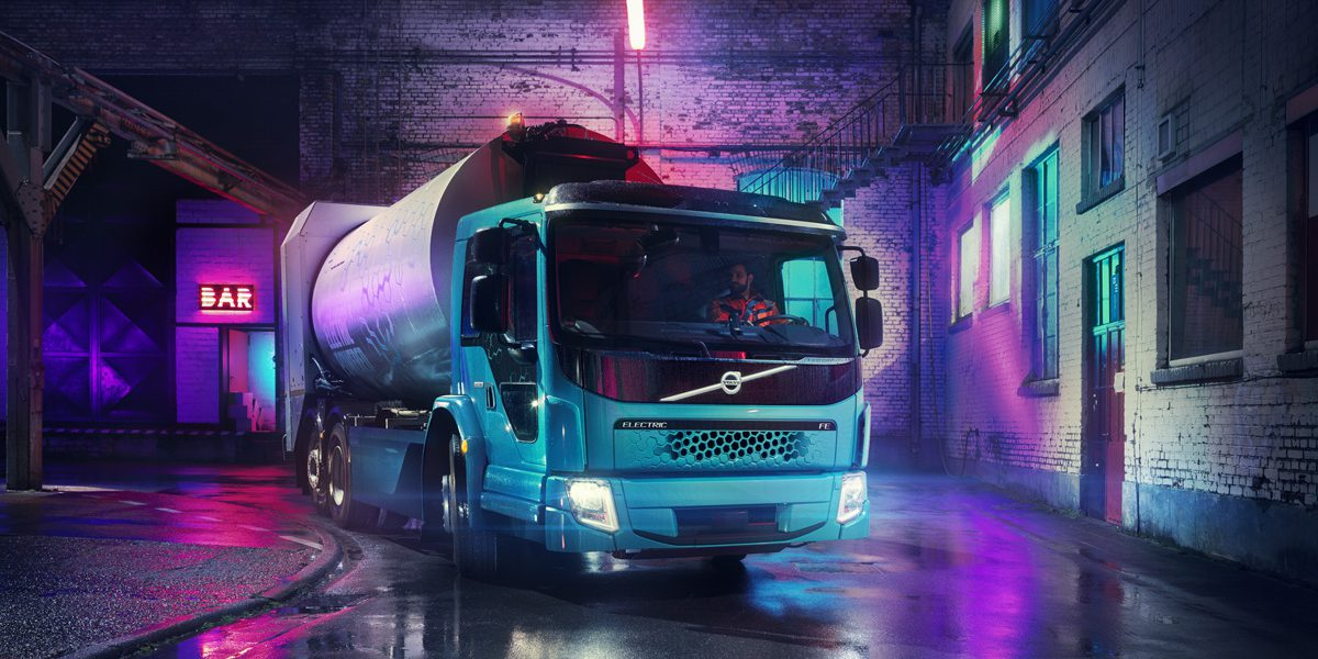 Volvo unveils new all-electric garbage truck with up to 200