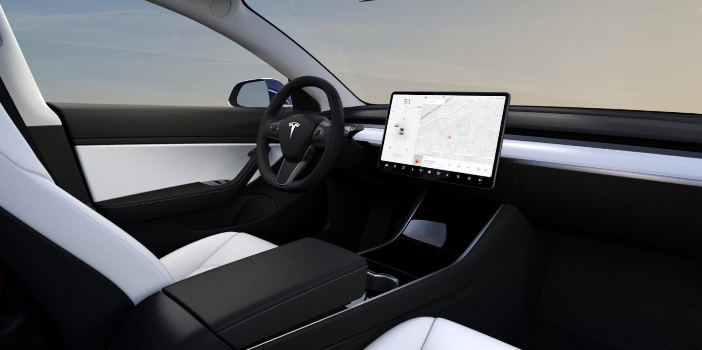 First look at Tesla Model 3 with new white interior for performance version