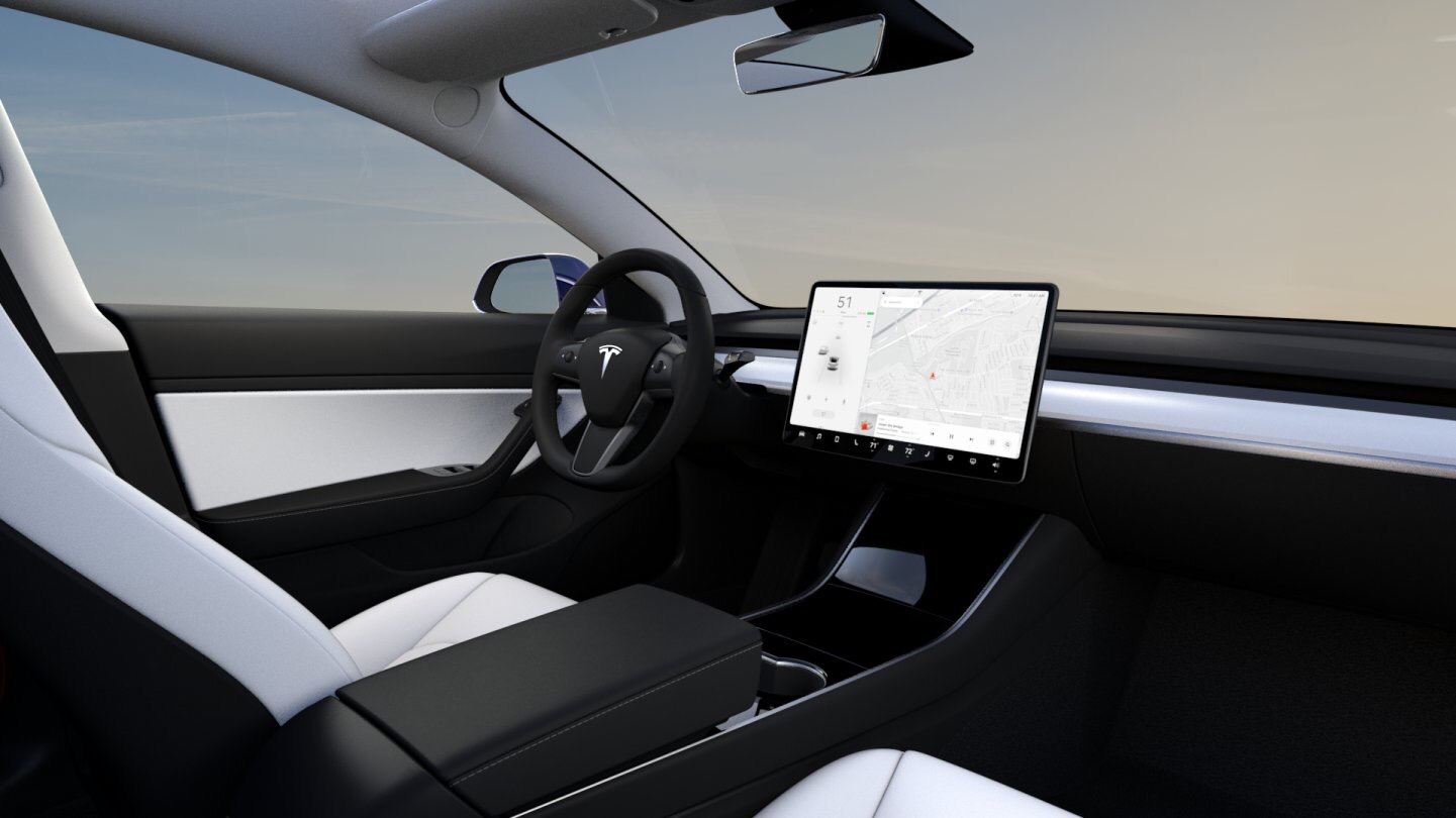Tesla Releases Stunning White Interior In Dual Motor Model 3