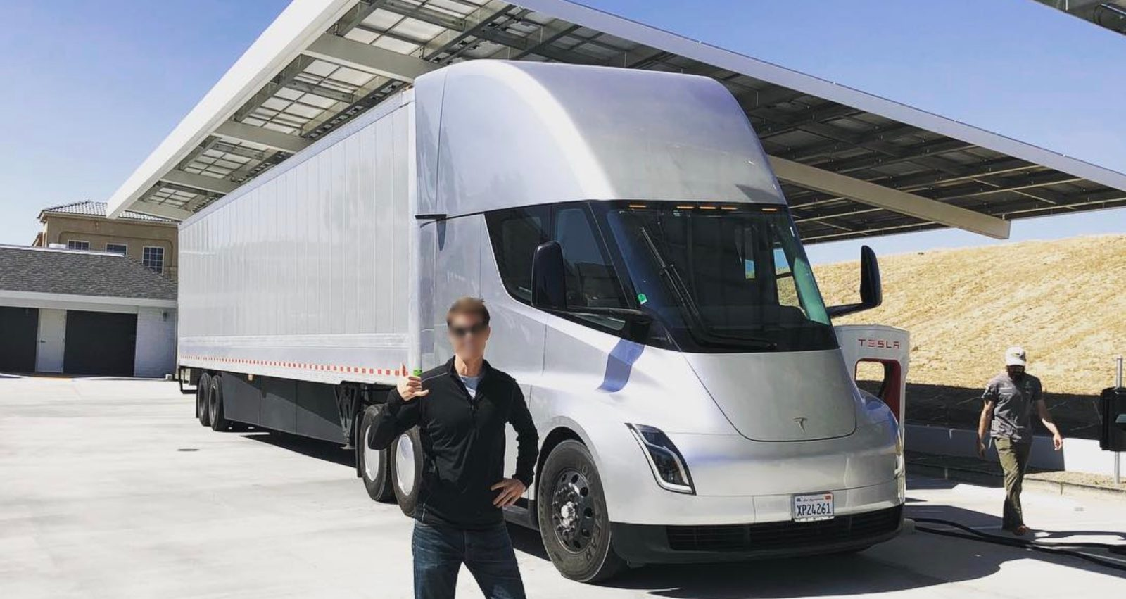 Tesla Semi Electric Truck Prototype Is Back On The Road Spotted At Supercharger Station