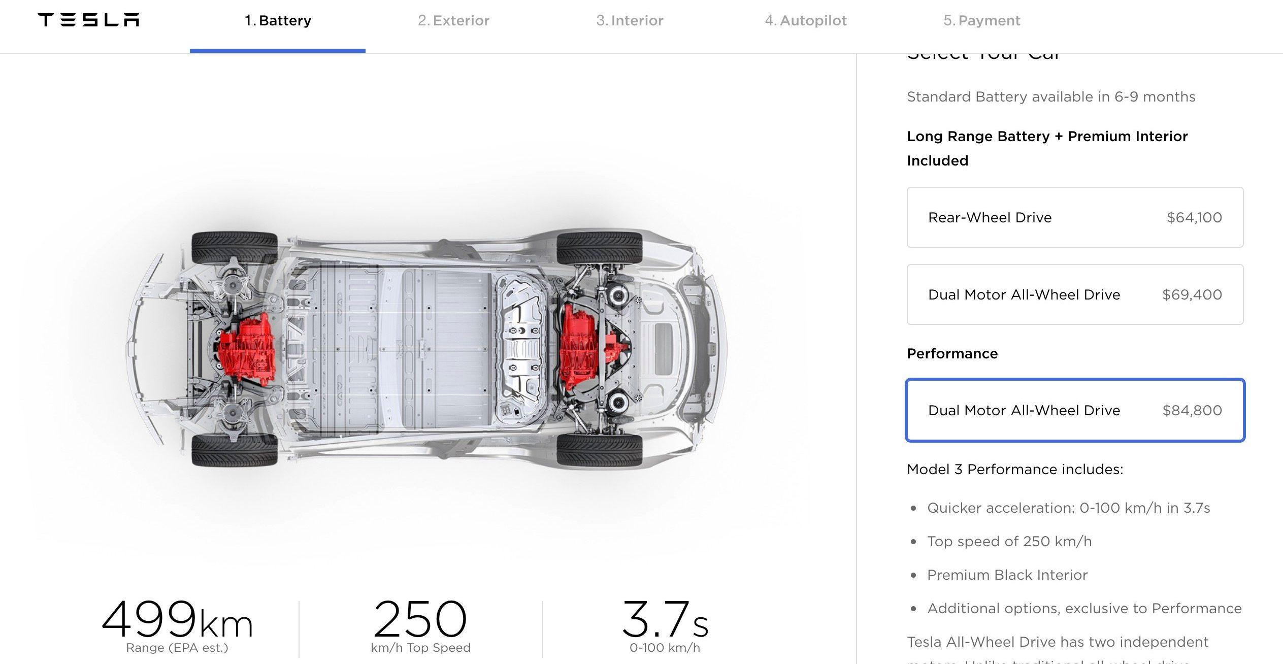Tesla updates Model 3 options and pricing, dual motor becomes cheaper, adds color, and more