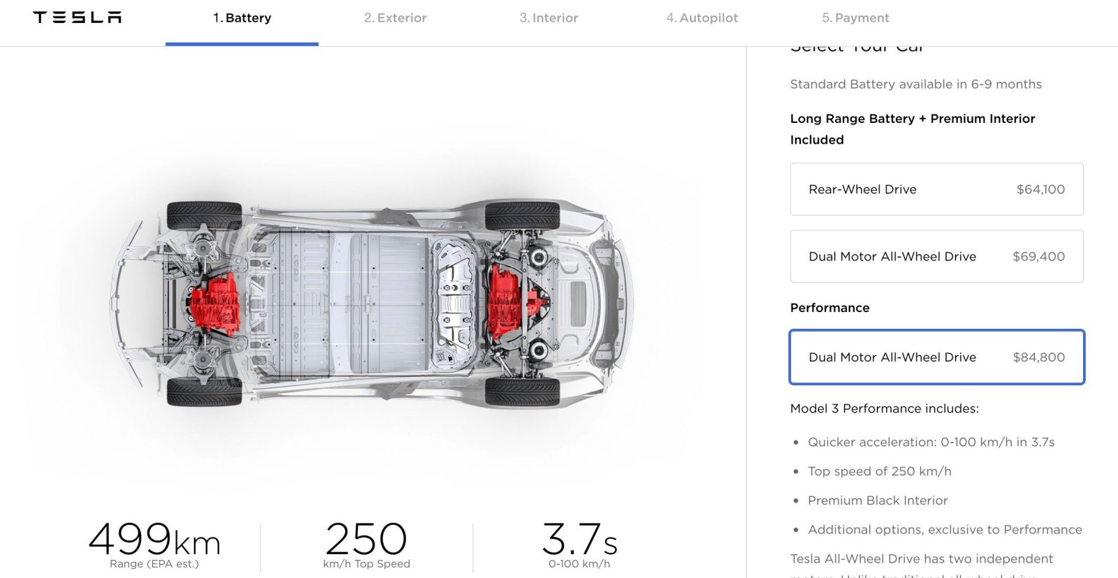 Tesla Updates Model 3 Options And Pricing Dual Motor Becomes Er Adds Color More