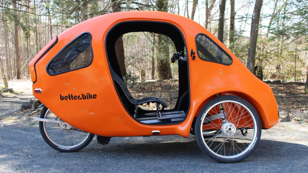 solar powered electric bike cars elf and pebl might just be weird enough to work electrek. Black Bedroom Furniture Sets. Home Design Ideas