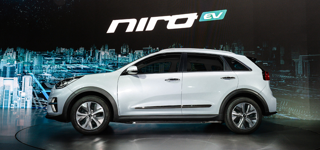 Kia Electric Car >> Kia Unveils New All Electric Niro Cuv Up To 280 Miles Of