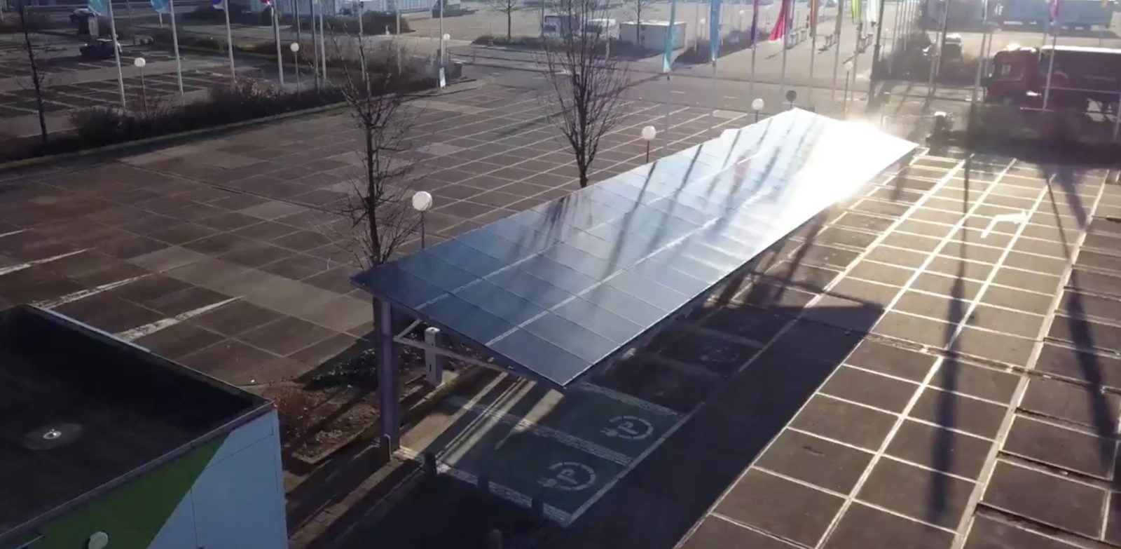 Electric Cars Can Now Charge On Sunlight Day And Night With Tesla Packs At New Smart Solar Charging Station