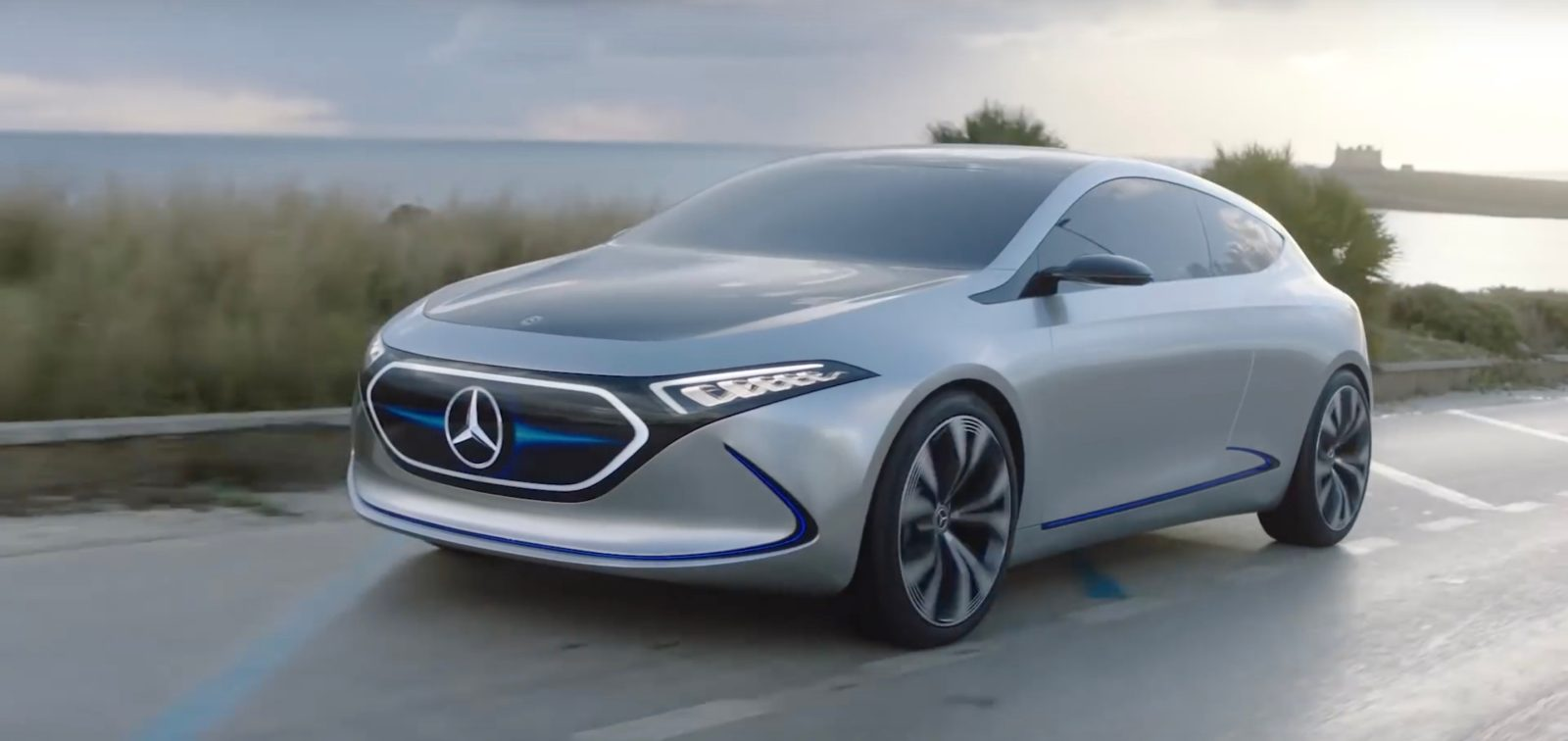 Mercedes Benz Showcases Latest All Electric Compact Car Working Prototype