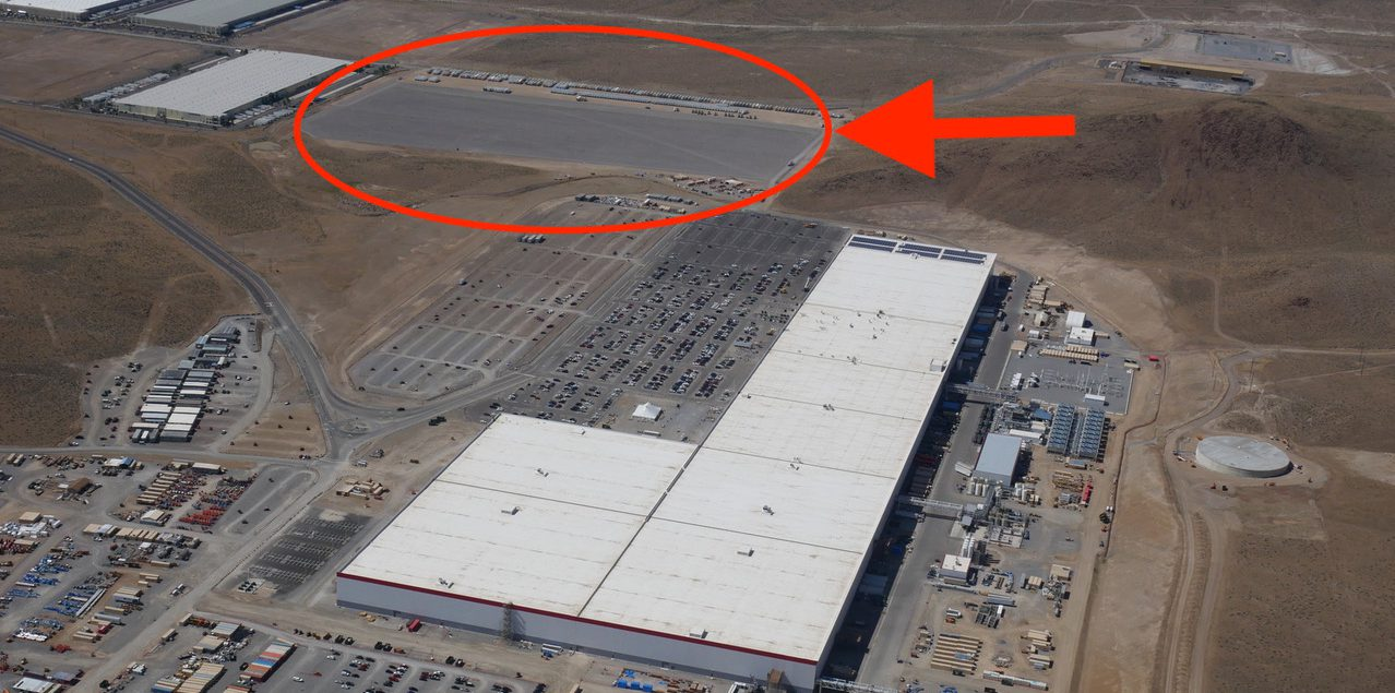 Tesla Gigafactory 1 New Flyover Shows New Lot Ahead Of