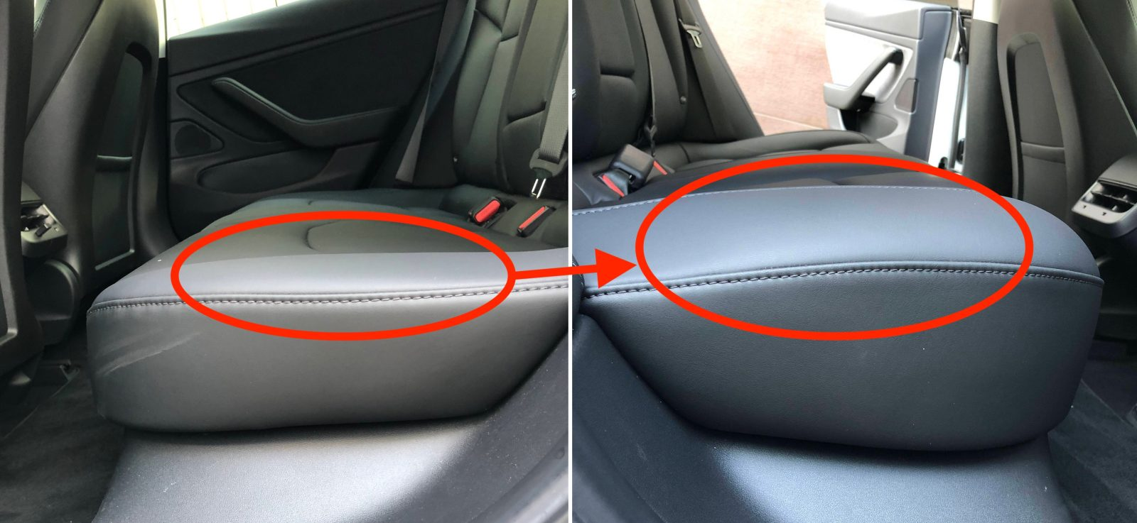 Uber Car Seat >> First look at Tesla Model 3's new backseat - Electrek