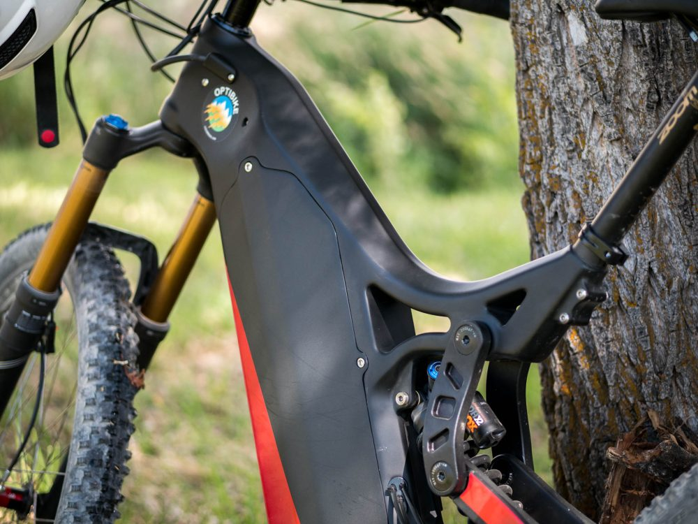 Optibike's new carbon fiber R15C w/ 3 35 hp and 100-mile