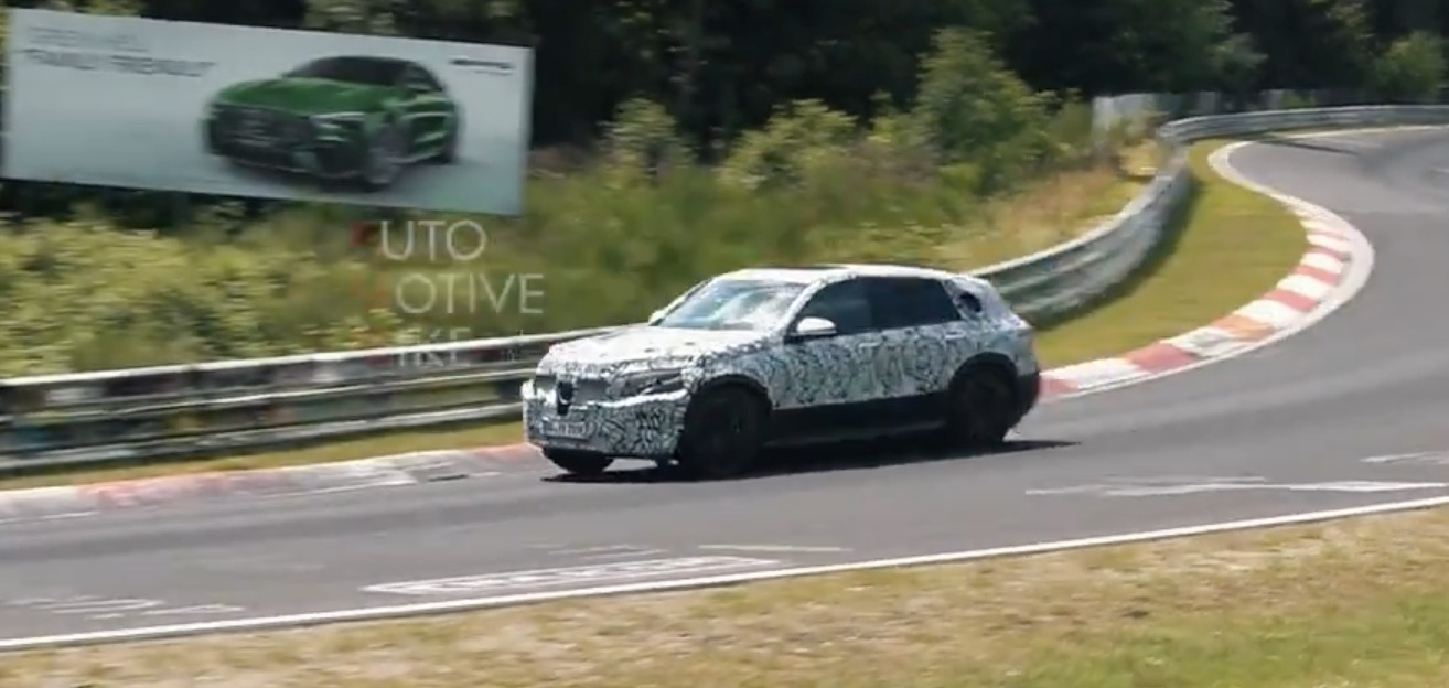 Watch mercedes benz eqc all electric suv prototype make for All electric mercedes benz