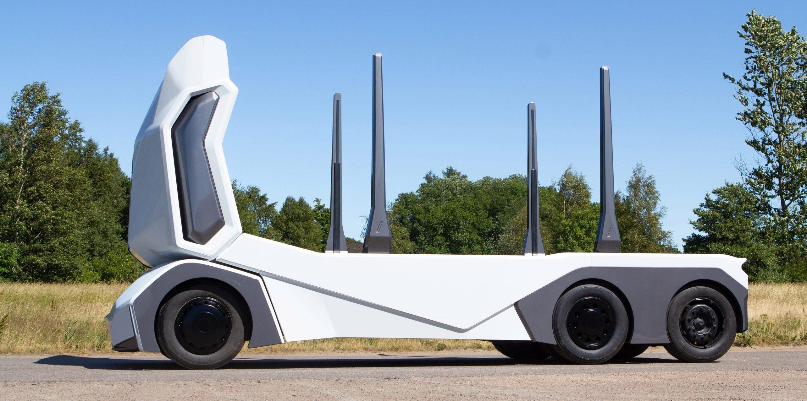 Holzstamm-Transporter von Einride