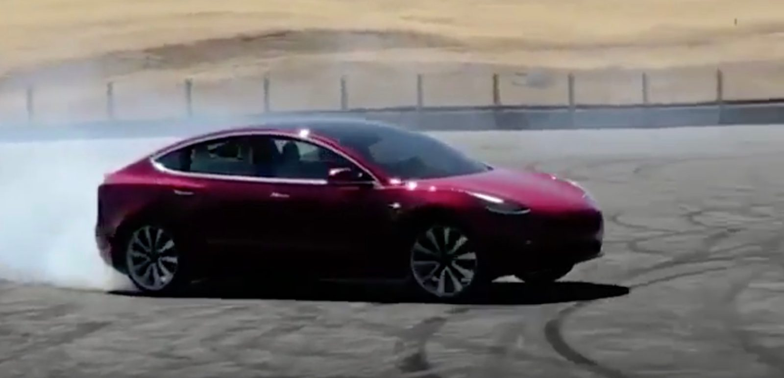 Tesla Releases First Video Of Model 3 Performance Version Burning Some Tires During Testing