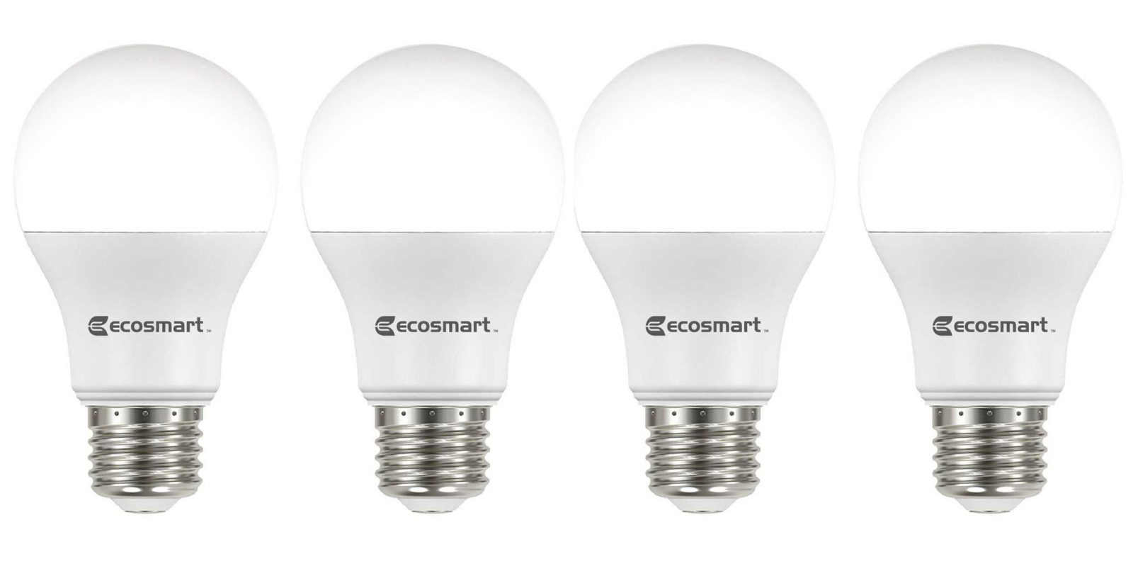 Green Deals Ecosmart 4 Pack 60w A19 Dimmable Led Light